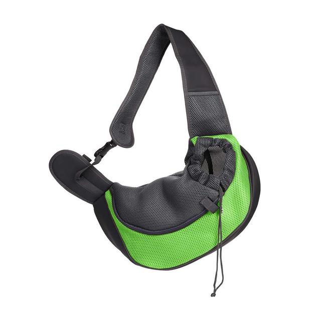 Ape Basics: Portable Mesh Breathable Pet Sling Backpack - Green