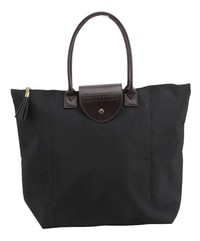 Willow & Rose Foldaway Shopping Tote (Black)