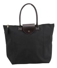 Willow & Rose Foldaway Shopping Tote (Black)