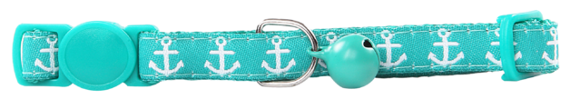 Pawise: Cat Collar - Anchor/Green