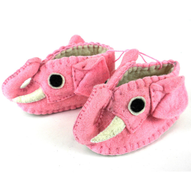 Woolie Slippers - Elephant Pink