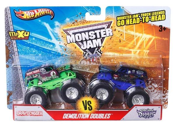 Hot Wheels: MonsterJam - Demo Doubles 2-Pack (Grave Digger VS Son-Uva Digger)