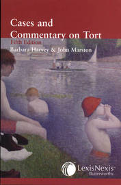 Harvey and Marston - Cases and Commentary on Tort by Barbara Harvey image