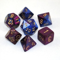 Chessex Gemini Polyhedral Dice Set Blue-Purple/Gold