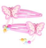 Great Pretenders - Fly Away Butterfly Dangle Hair Clip Set