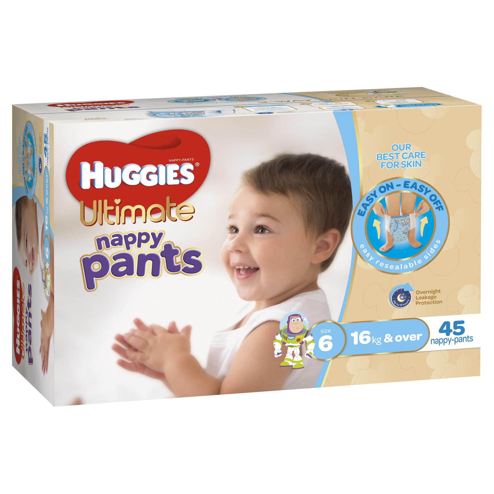 Huggies Ultimate Nappy Pants: Jumbo Pack - Junior Boy 16kg+ (45) image