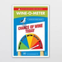 Wine-O-Meter - Fridge Magnet
