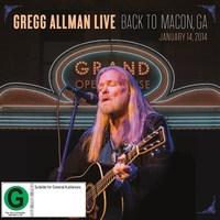 Gregg Allman Live: Back To Macon, GA (Live At The Grand Opera House, GA, USA / 2014) (2CD/DVD) on Blu-ray