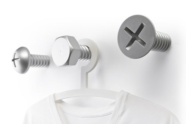 Qualy Screw Collection Wall Hooks