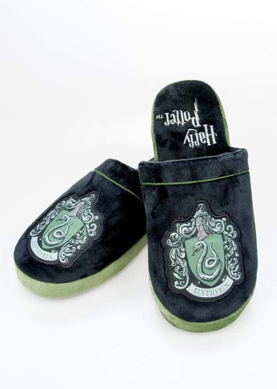 Harry Potter: Slytherin Mule Slippers - Black & Green Adult Large (UK 8-10)