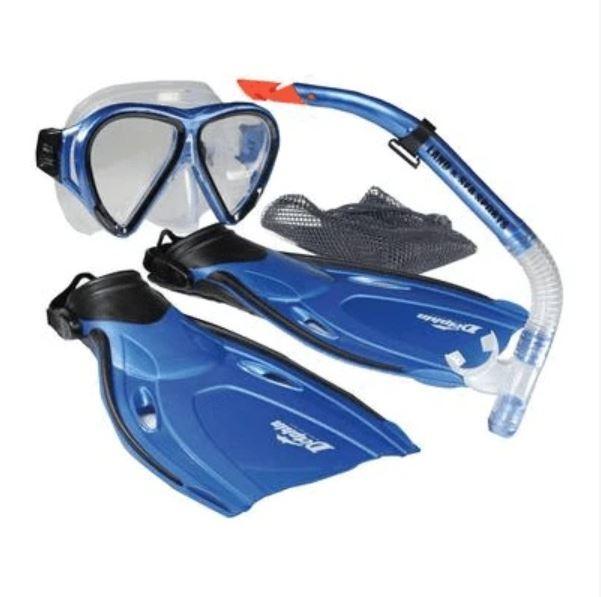 Dolphin Snorkelling Set - Snorkel/Mask/Fins (Junior)