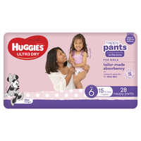 Huggies: Ultra Dry Nappy Pants - Size 6 (28 Pack)