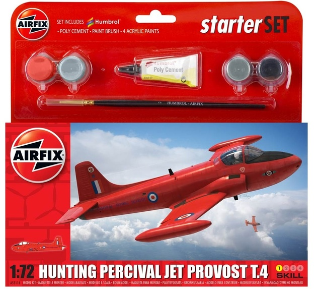Airfix Hunting Percival Jet Provost T.4 1:72 Model Kit - Small Starter Set