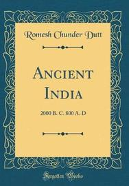 Ancient India by Romesh Chunder Dutt image