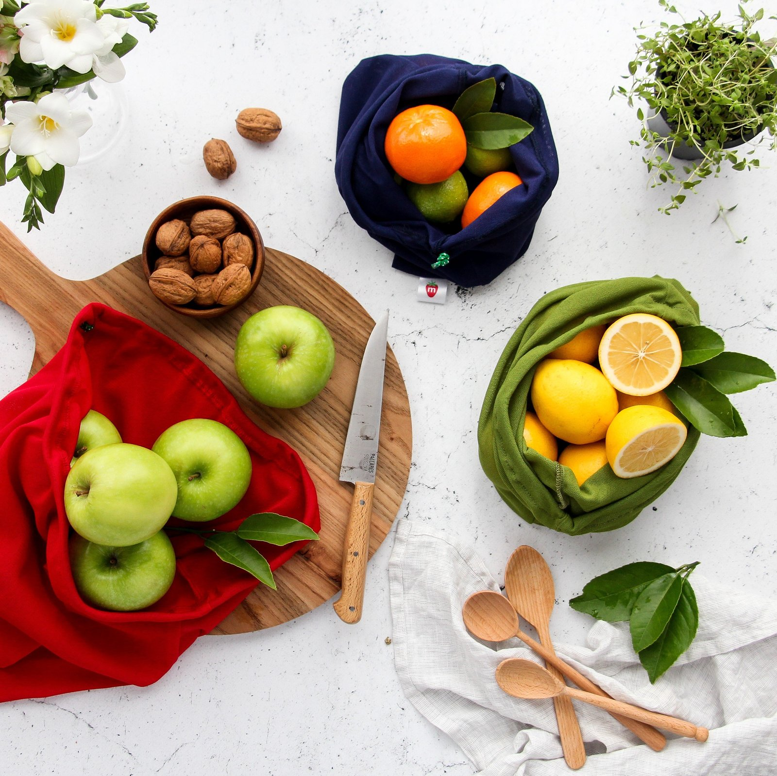 Reusable Produce Bags - (2 small, 1 large) image