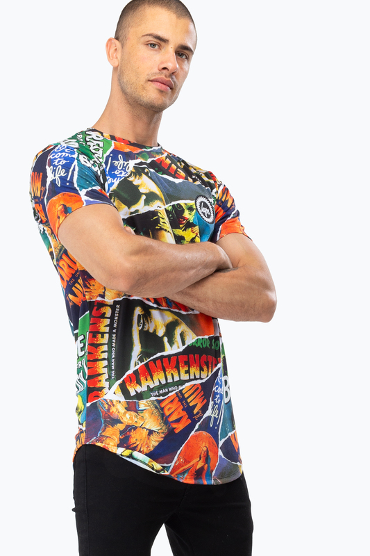 Just Hype: Men's Dished T-Shirt - Ripped Monsters XXL