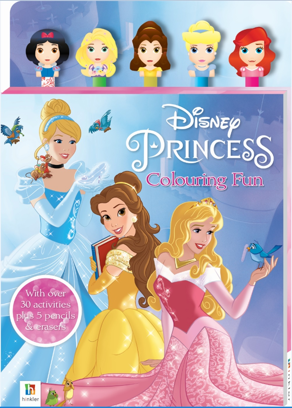 Disney Princess: Pencil & Eraser - 5-Piece Set image
