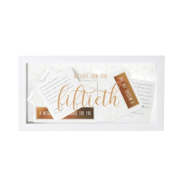 Splosh Fiftieth Birthday Message Box