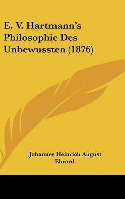 E. V. Hartmann's Philosophie Des Unbewussten (1876) image