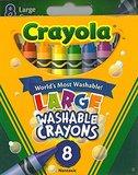 Crayola: 8 Washable Large Crayons - Crayola