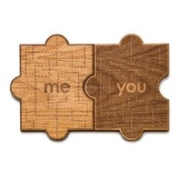 Cardtorial Wooden Card - You & Me image
