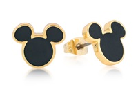 Disney Couture: Mickey Mouse Stud Earrings - Yellow Gold