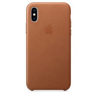 iPhone XS Leather Case - Saddle Brown