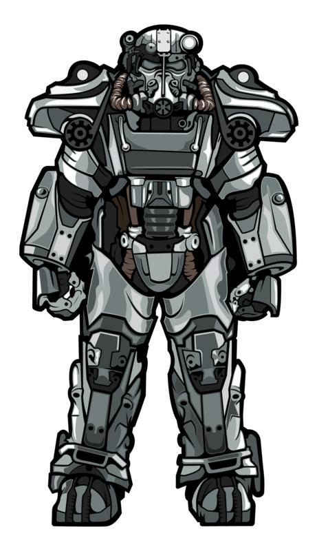 Fallout - T60 Power Armor (#X6) - XL FiGPiN
