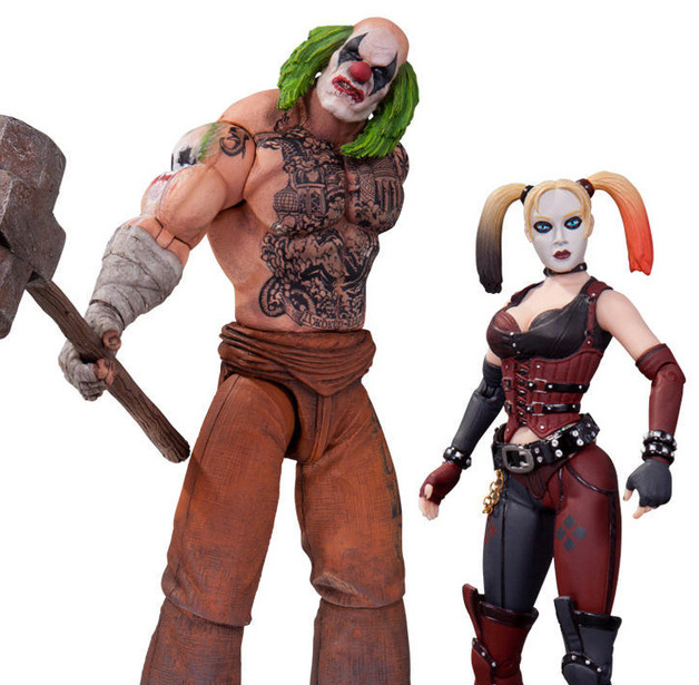 354edebed321 Batman Arkham City Mr Hammer   Harley Quinn Action Figure 2-Pack ...