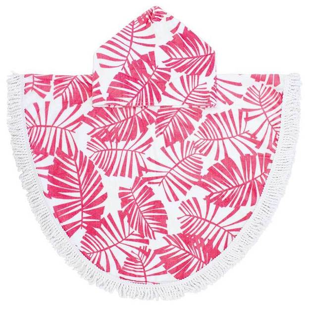 Bambury Printed Shaped Poncho Pal (Holiday Guava)