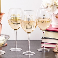 Two's Company Go Glam Wine Glass