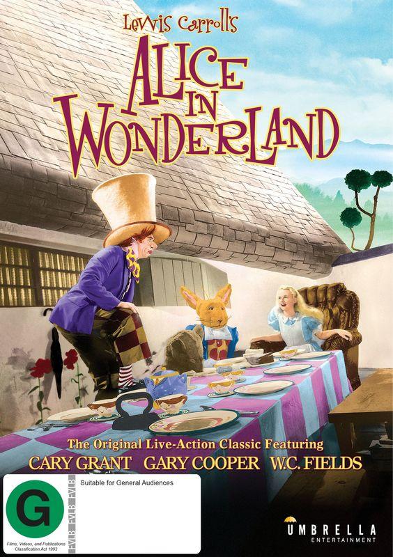 Alice in Wonderland on DVD