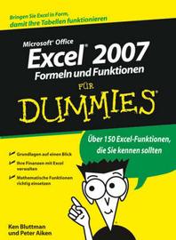 Excel 2007 Formeln Und Funktionen Fur Dummies by Ken Bluttman image