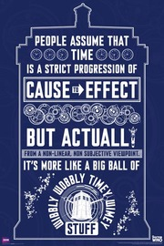 Dr Who Wibbly Wobbley Wall Poster (430)