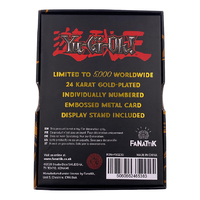Yu-Gi-Oh: Metal Card (24K Gold Plated) - Dark Magician