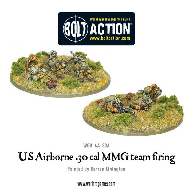 US Airborne - 30cal team - Firing