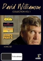 David Williamson Collection - Vol. 1 (4 Disc Set) on DVD