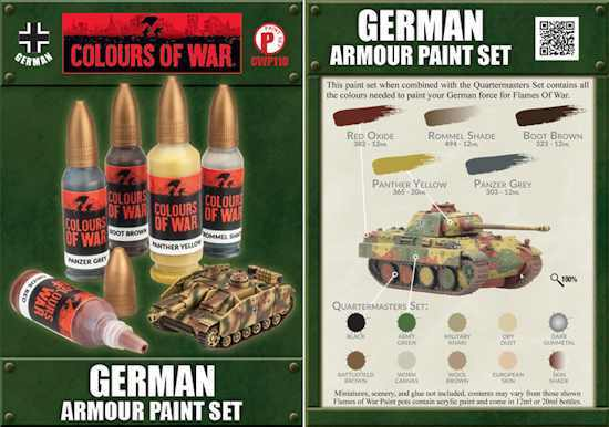Colours of War - German Armour Paint Set