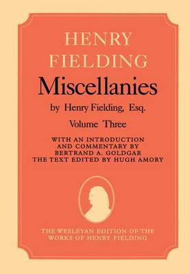 Miscellanies by Henry Fielding, Esq: Volume Three by Henry Fielding image