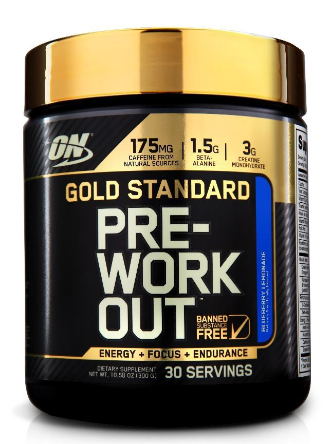 Optimum Nutrition Gold Standard Pre-Workout - Blueberry Lemonade (300g) image
