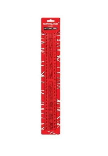 Warwick 30cm Ruler (Clear)