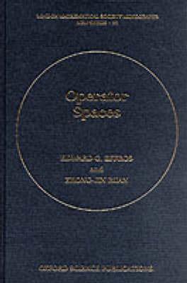 Operator Spaces by E.G. Effros