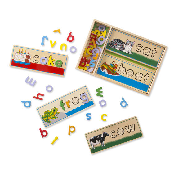 Melissa & Doug: Wooden See and Spell Puzzle image