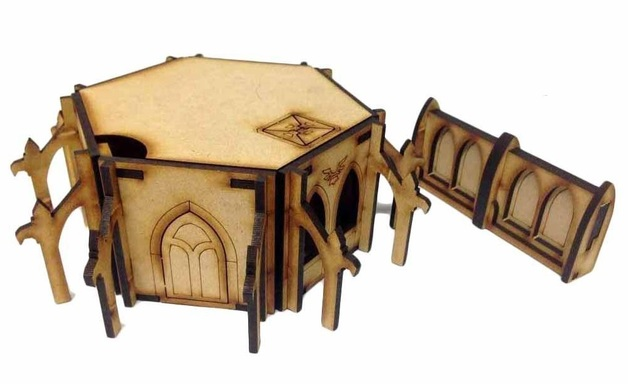 TTCombat: Tabletop Scenics - Gothic Outpost Building