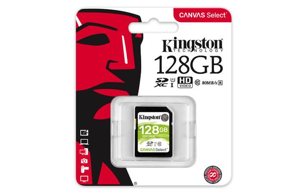128GB Kingston Canvas Select SDXC Card - Class 10 UHS-I