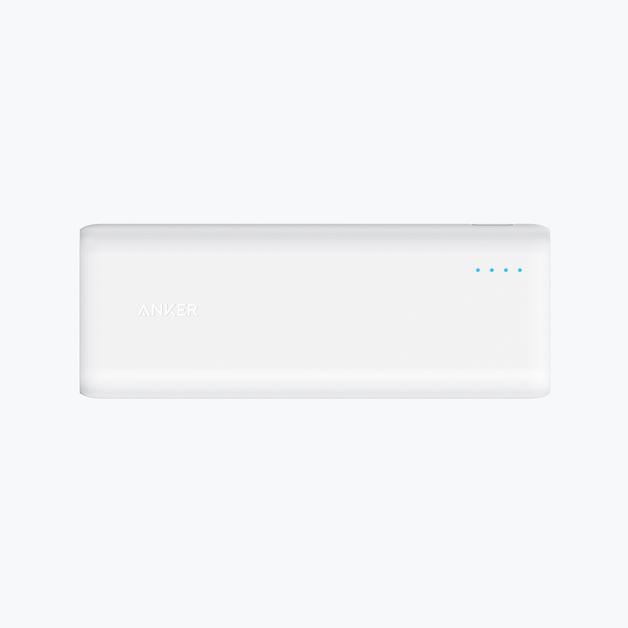 ANKER: PowerCore 20100mAh with 2x PowerIQ 2.4A ports - White