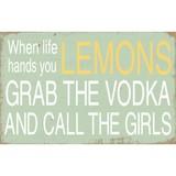 Wooden Plaque - Lemons & Vodka