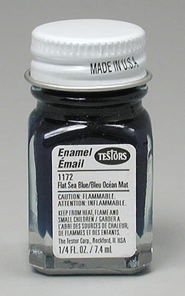 Testors: Enamel Paint - Flat Sea Blue image