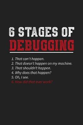 6 Stages Of Debugging by Deep Senses Designs