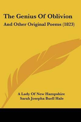 The Genius Of Oblivion: And Other Original Poems (1823) by A Lady of New-Hampshire image